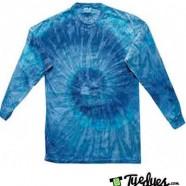 Blue Jerry Long Sleeve Tye Dye