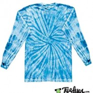 Spider baby Blue Long Sleeve tye dye