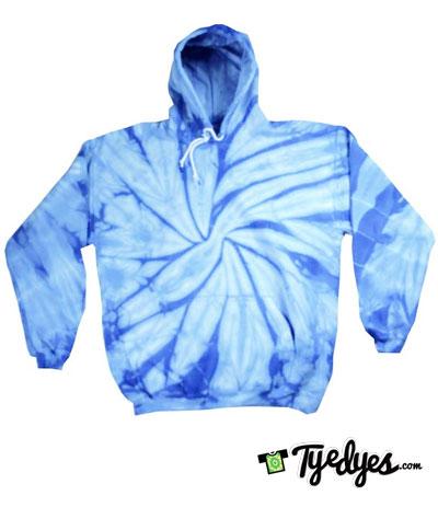 Baby Blue Tye Dye Hoodie | tyedyes.com