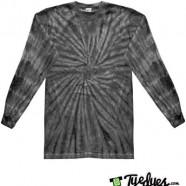 Spider Black Long Sleeve Tye Dye
