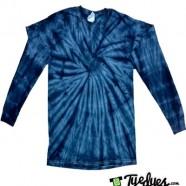 Spider Navy Long Sleeve Tye Dye