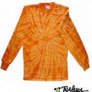 Spider Orange Long Sleeve Tye Dye