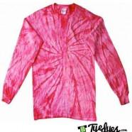 Spider Pink Longsleeve tye dye