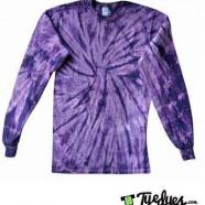 Spider Purple Long Sleeve Tye Dye