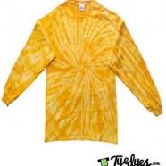 Spider Gold Long Sleeve Tye Dye