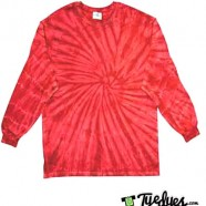 Spider Red Long Sleeve Tye Dye