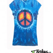 Glowing Peace Sign Tye Dye Shirt